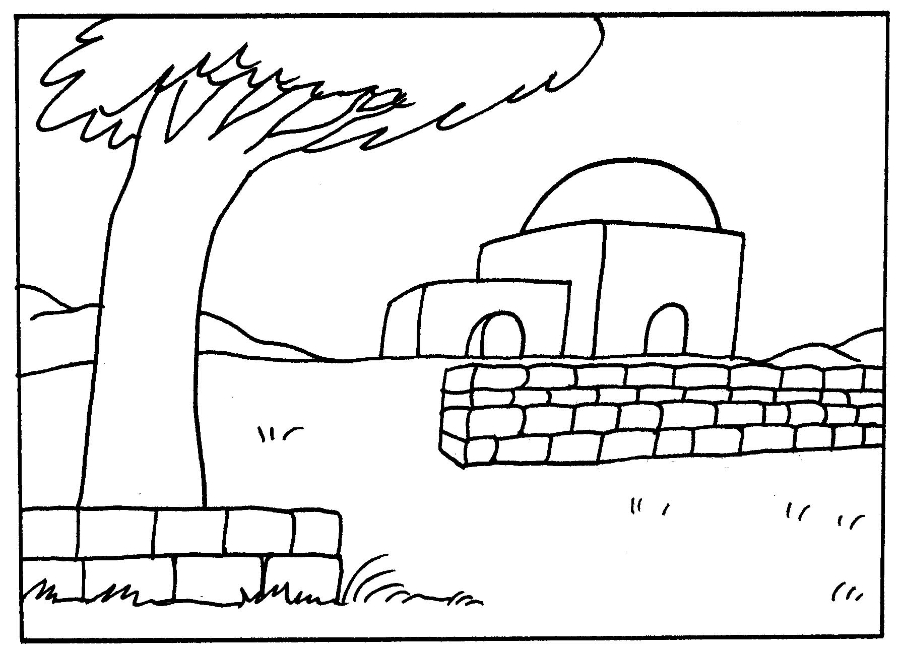 Shabbat Candles Coloring Page Sketch